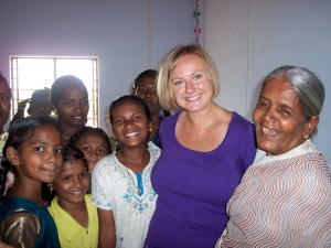 Maryann & women at worship in southeast India