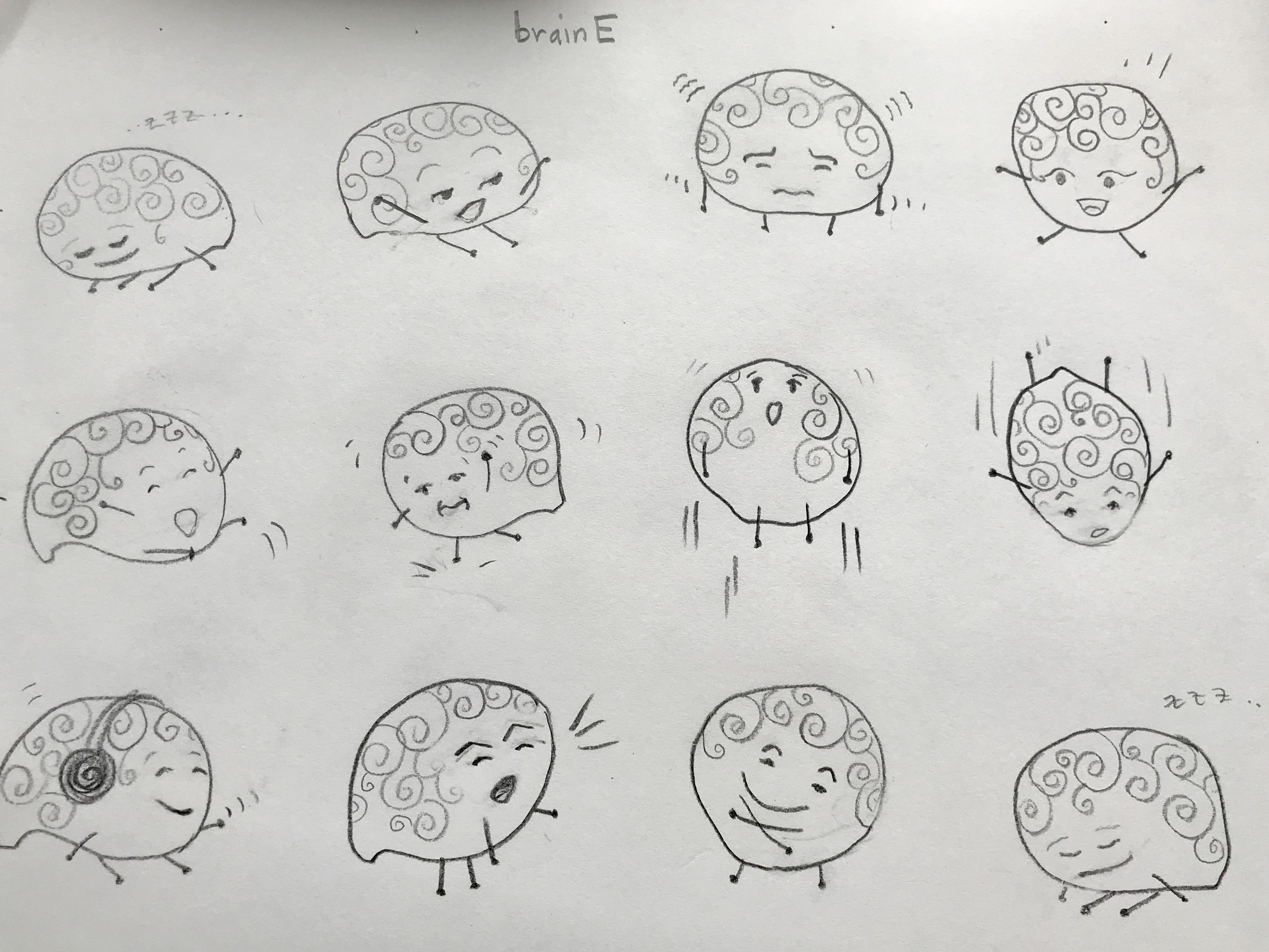 brainE character